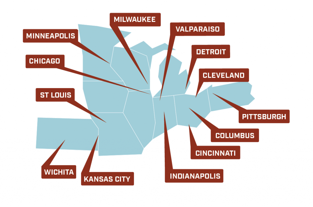 Midwest Urban Strategies (MUS) Partner Map