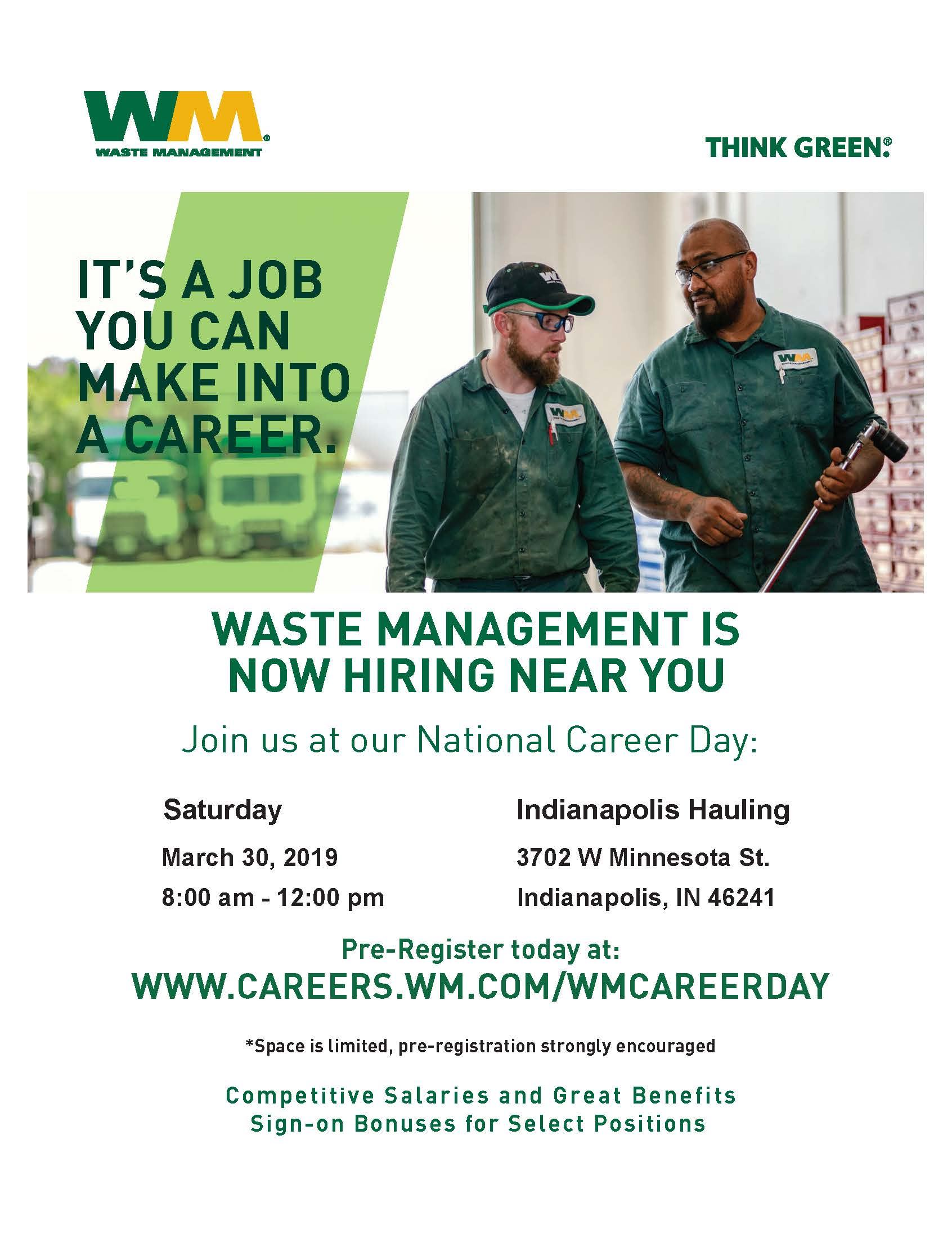 Waste Management National Career Day Hiring EventEmployIndy