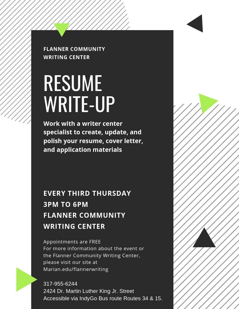 Resume Write-Up at Flanner Community Writing CenterEmployIndy